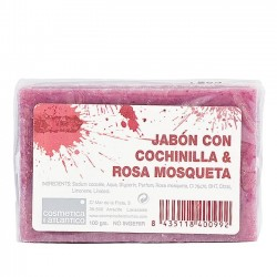 Aloe Plus Lanzarote.Rosehip and cochineal handmade soap
