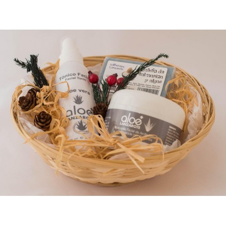 gift basket. Aloe vera Skin Care