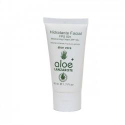 Aloe Plus Lanzarote. Crema Hidratante Facial SPF 50 con Aloe Vera