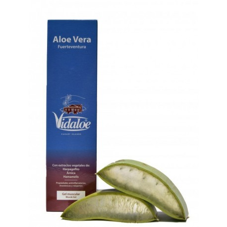 Canary islands. Gel Relax Muscular (80% Aloe Vera) con extractos vegetales de Harpagofito , Árnica y Hamamelis. 250ML.