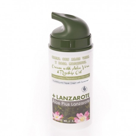 Aloe Plus Lanzarote, Nourishing Repair Cream, With Rosehip Oil and Sunscreen, 100ml